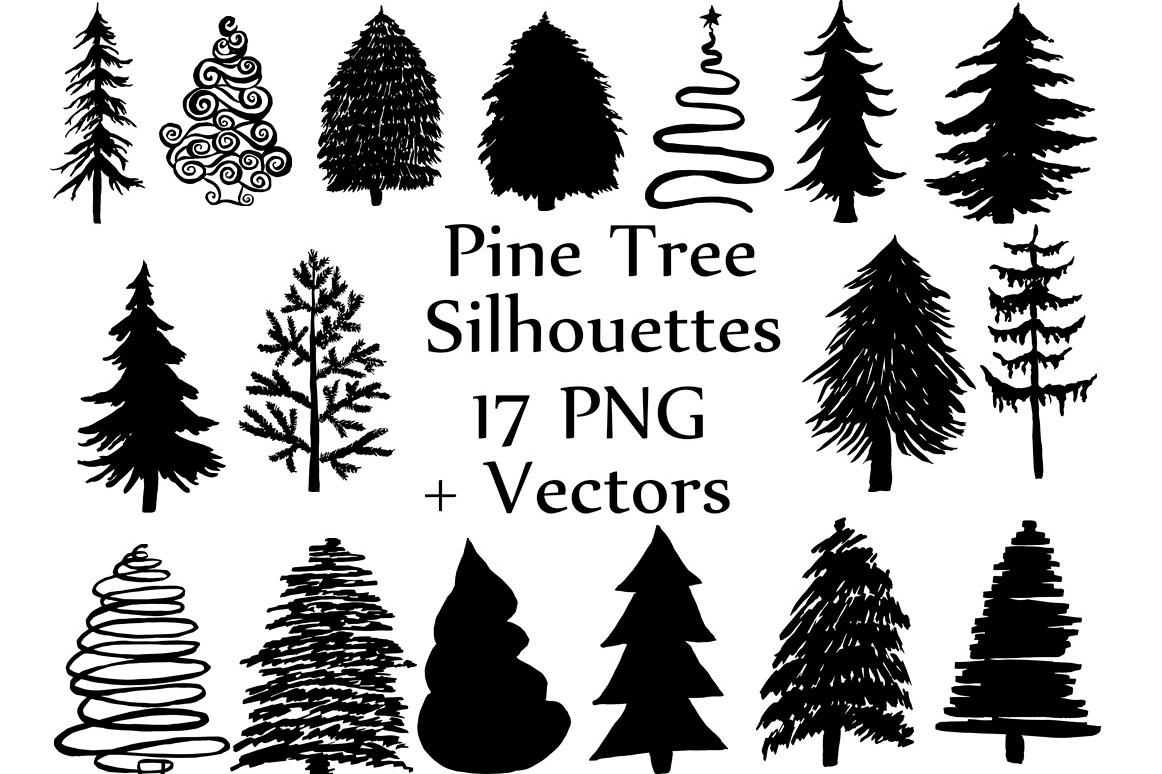 Christmas Tree Silhouette Clip Art