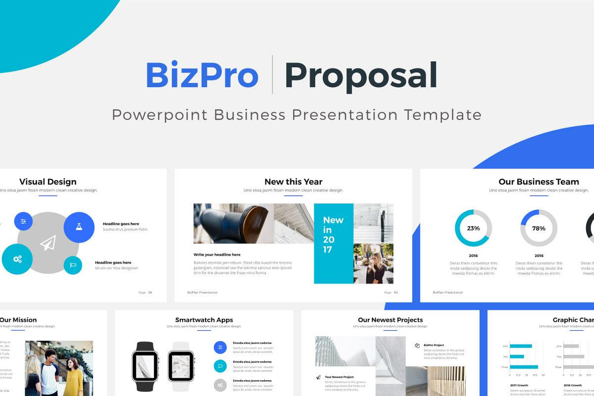 rfp presentation template - bizpro proposal powerpoint template b design bundles
