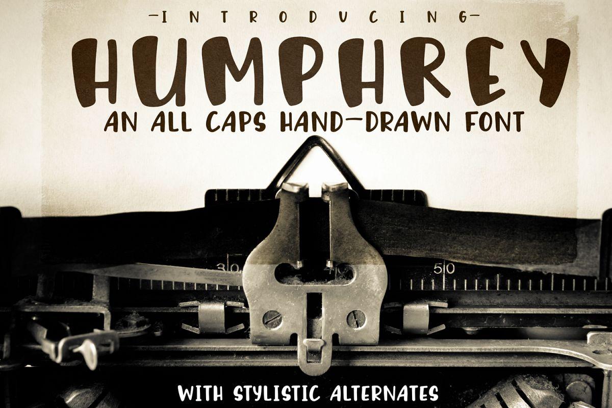 Humphrey Handwritten Font example image