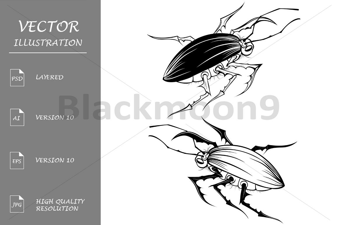 Two Stylized Bugs example image