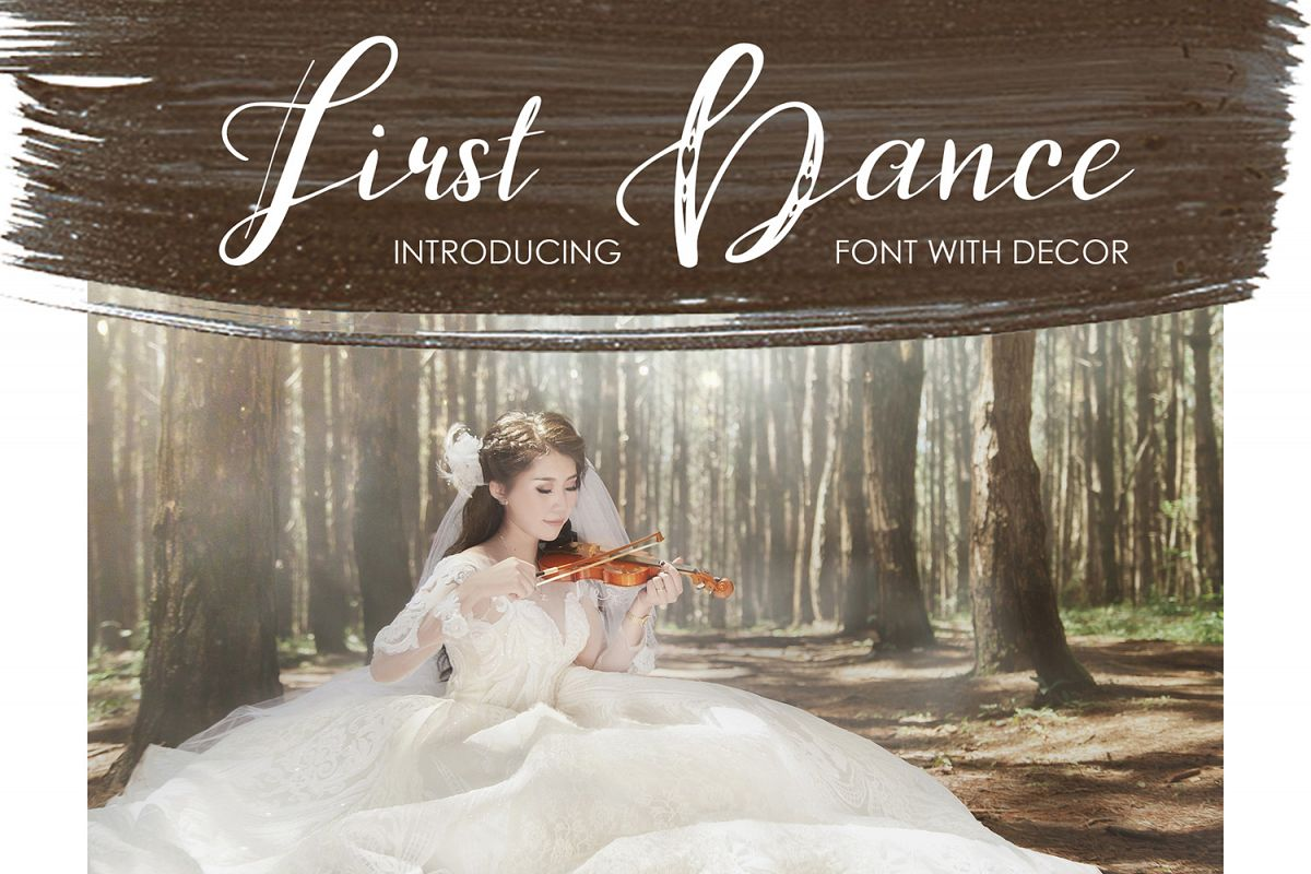 First Dance - font example image