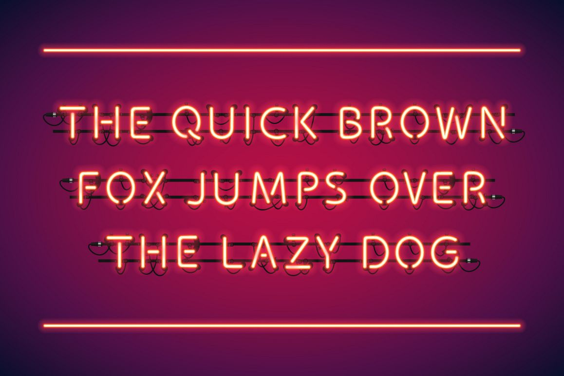 Red Glowing Neon Type example image