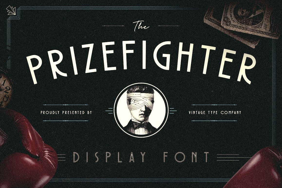 Prizefighter Display Font example image