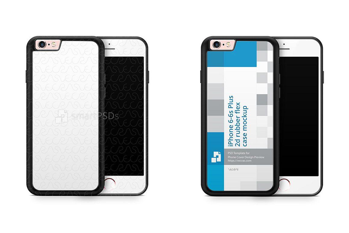 apple iphone 6s plus 2d rubberflex case mockup 2015 example image