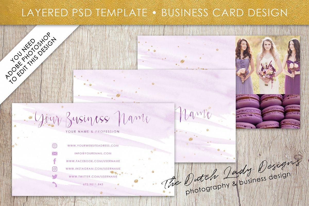 Business Card Template for Adobe Photos   Design Bundles