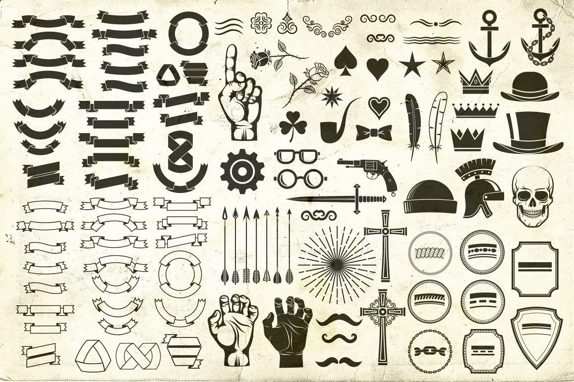 Hipster Skull Design Bundle example image 2
