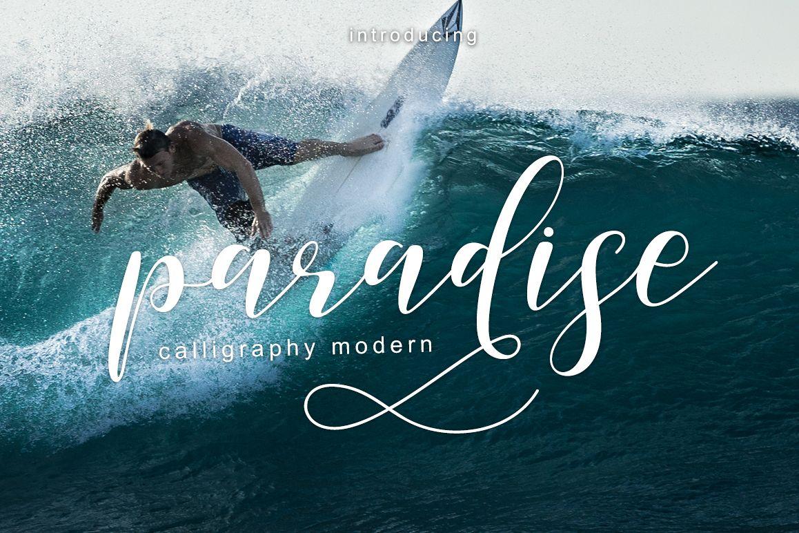 paradise calligraphy modern example image
