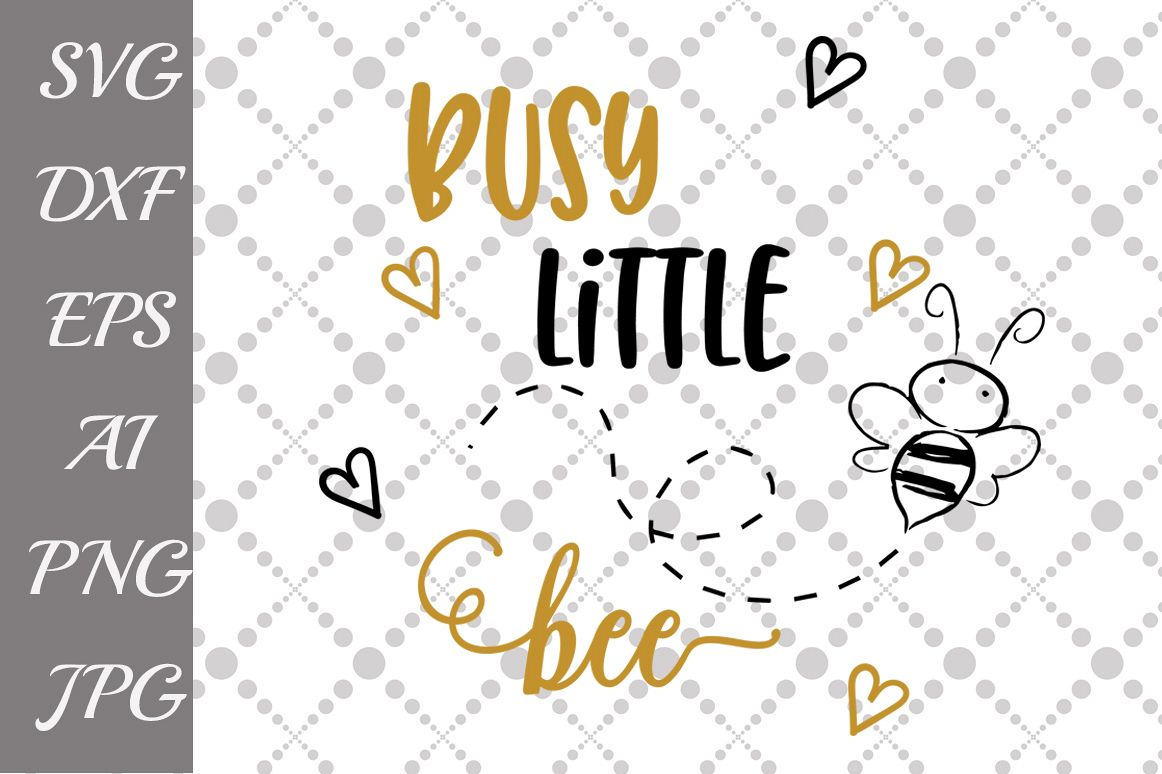 Busy Little bee Svg example image