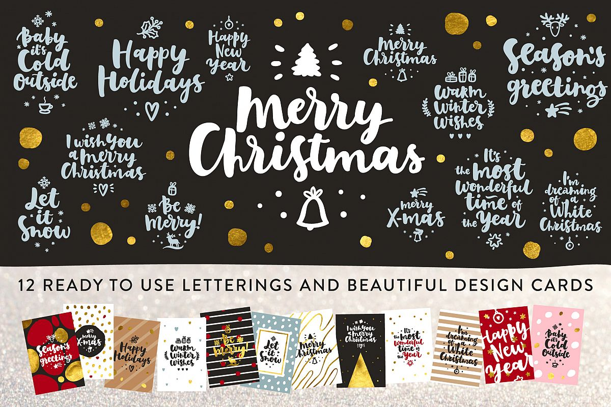 Merry Christmas Vector Set example image 8