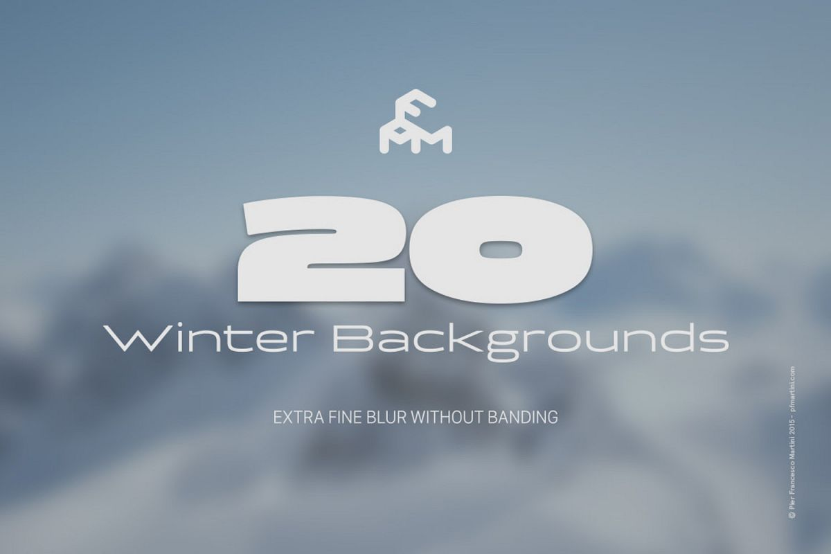 20 Winter Blurred Backgrounds example image