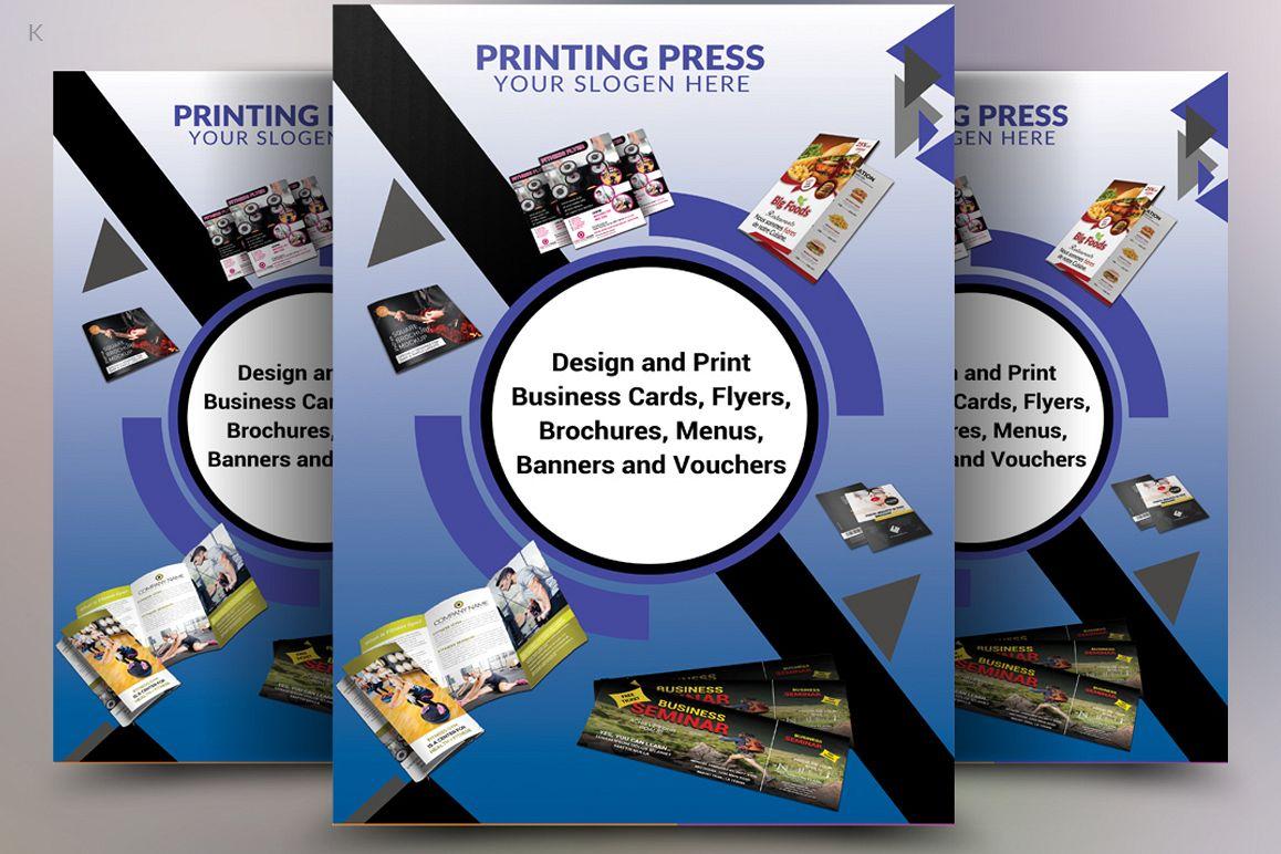 Printing Press Flyer by Pro Design | Design Bundles