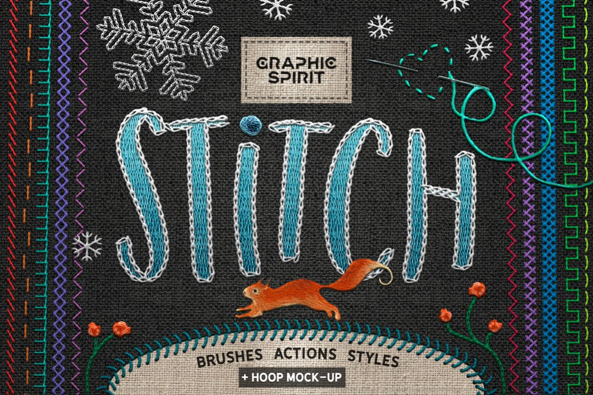 Ps STITCH: Brushes, Actions, Styles example image