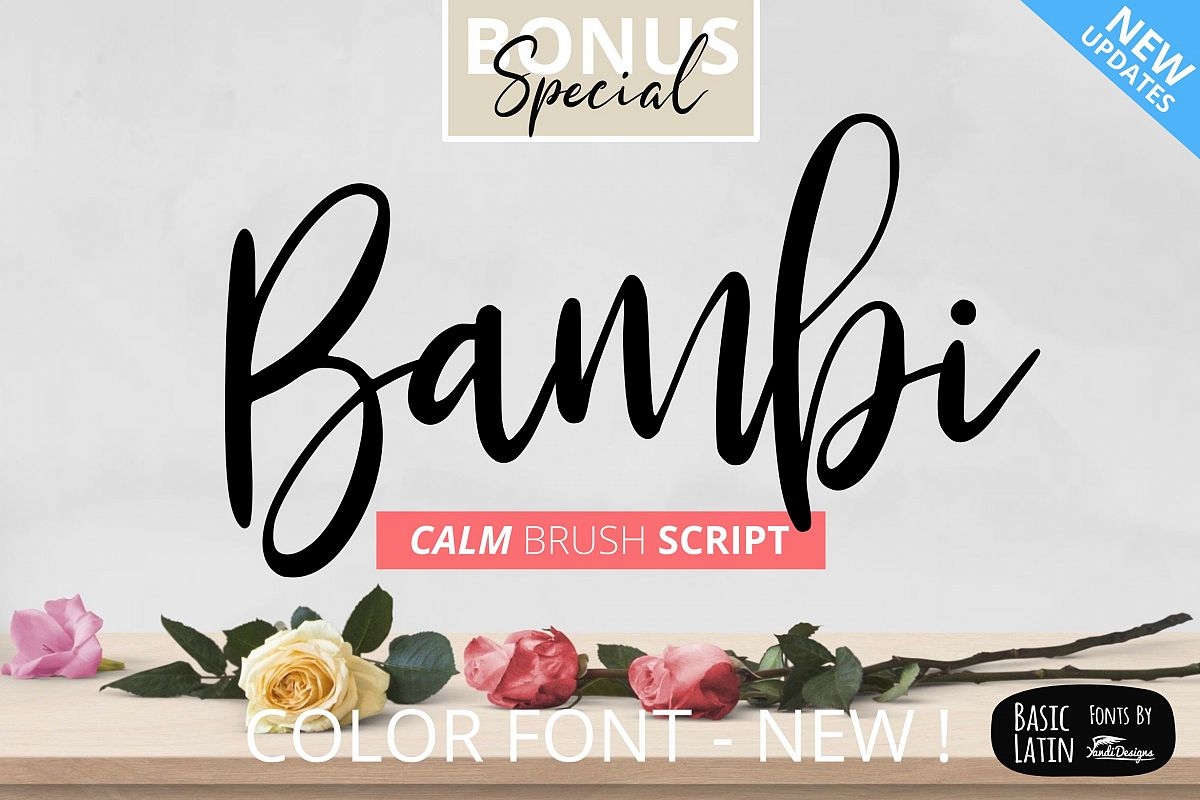 Bambi Font + New Extras ! example image