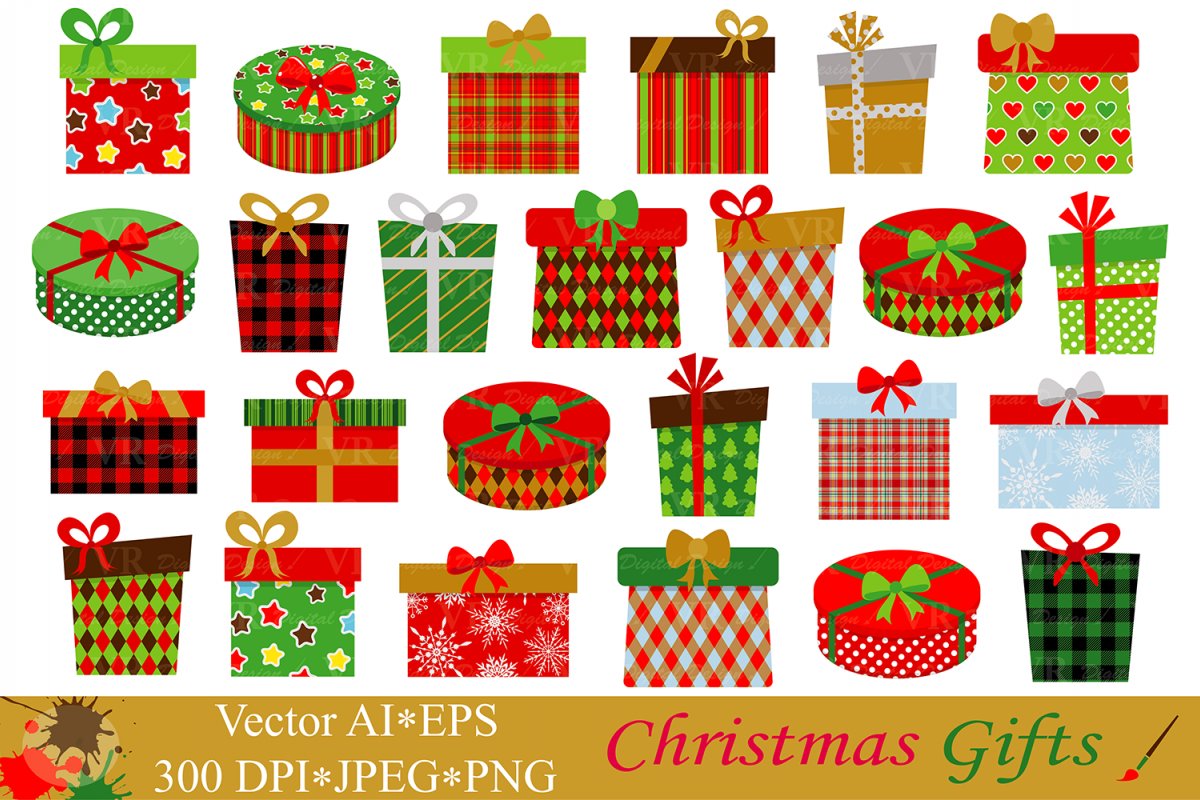 christmas gifts presents clipart ve design bundles rh designbundles net birthday presents clipart presents clipart free