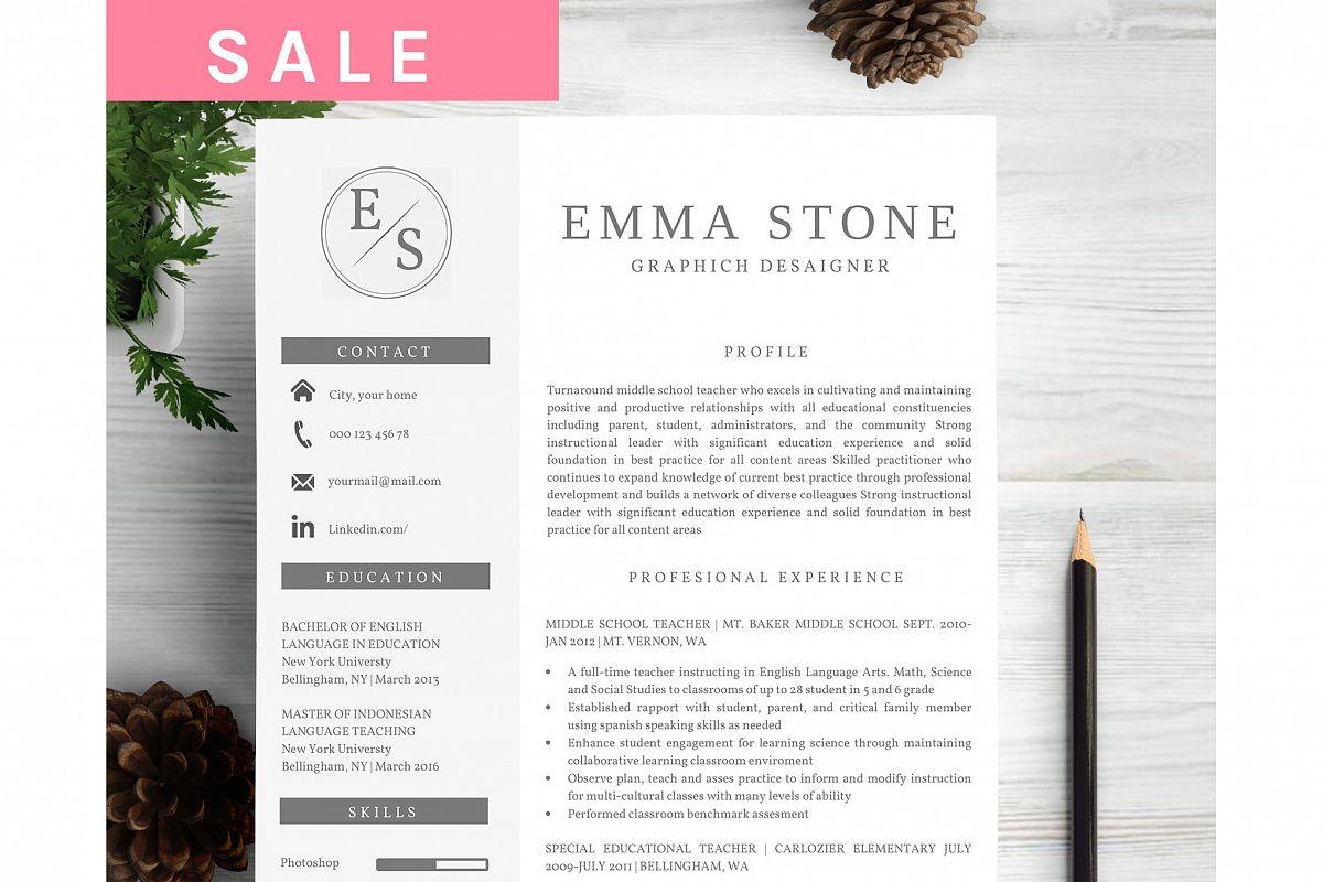 Creative Curriculum Vitae by Font Bundl   Design Bundles