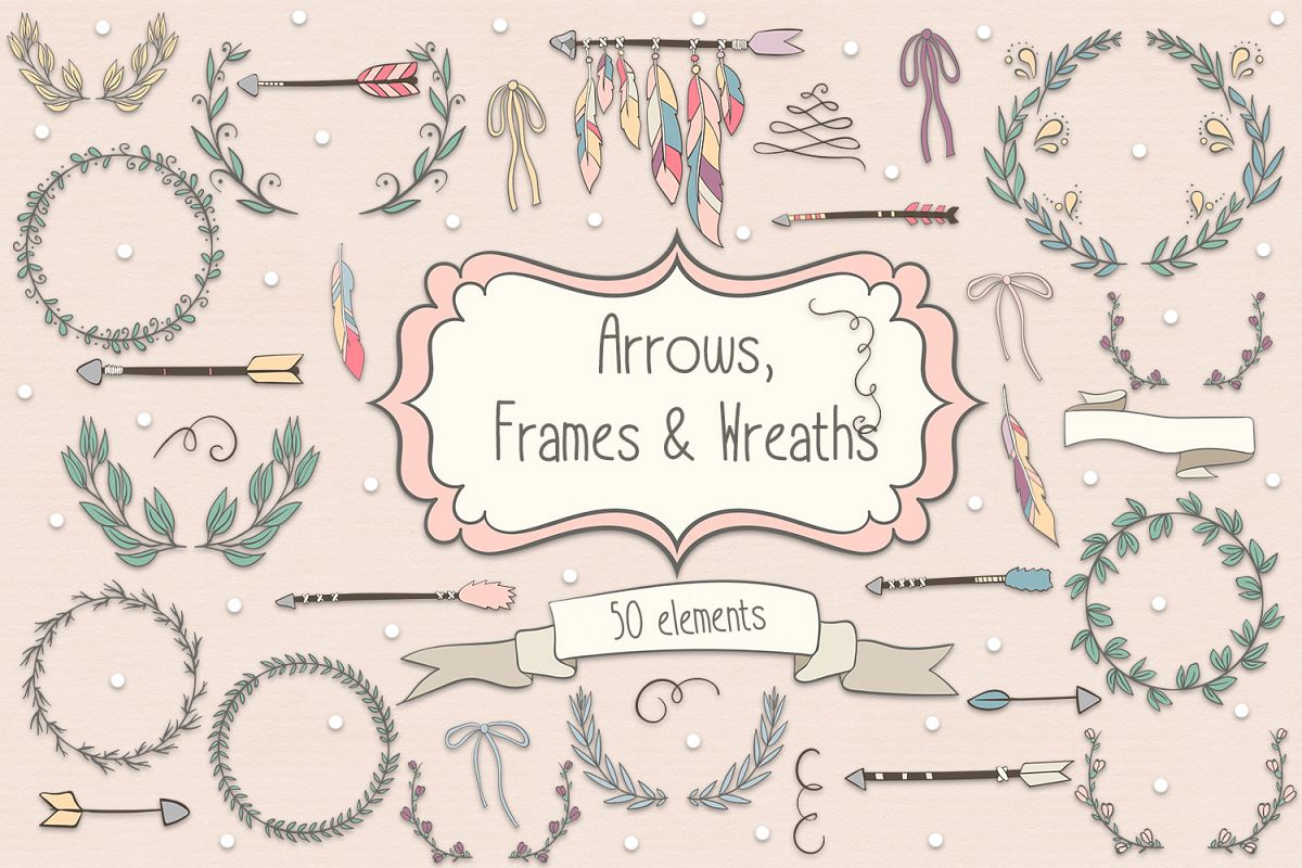 Arrows, Frames and Wreaths example image