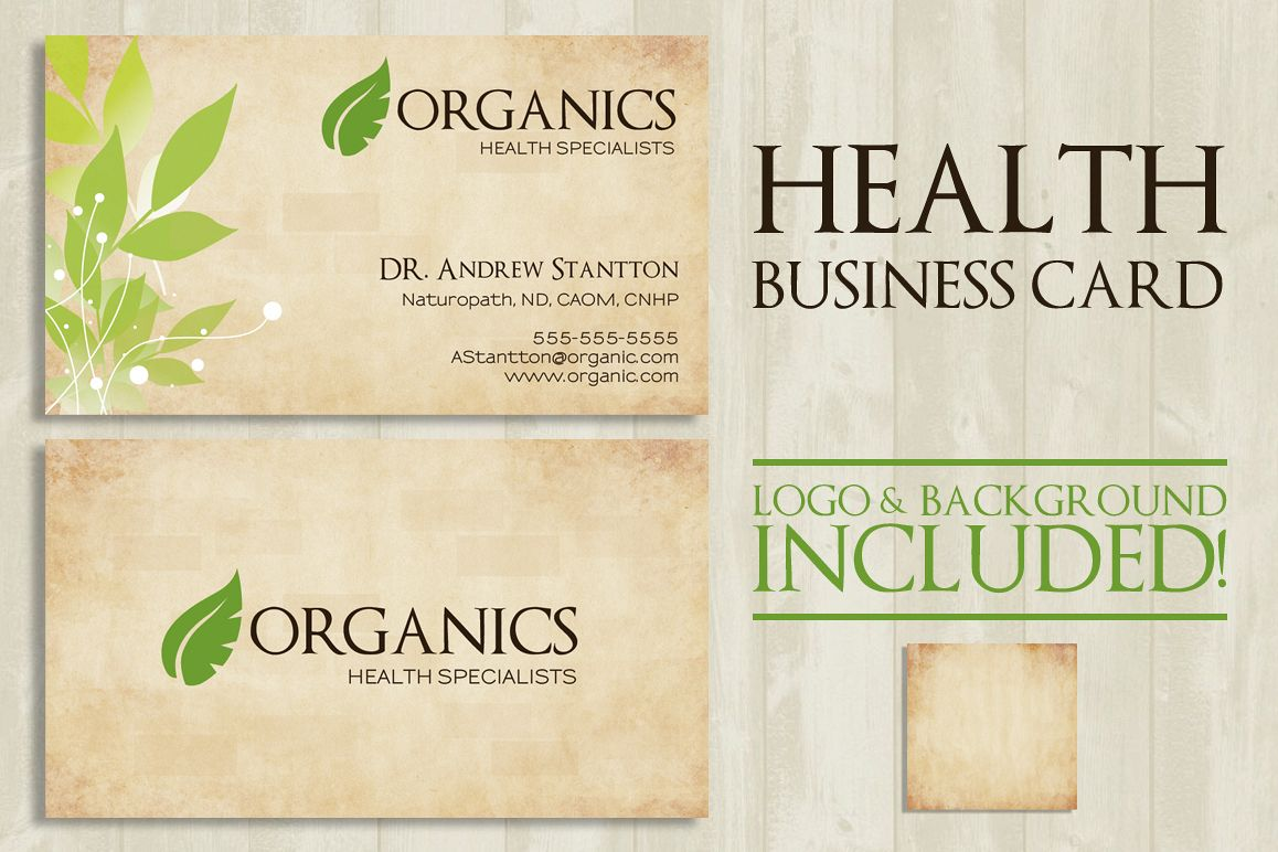 Health Business Card by Lucion Creative | Design Bundles