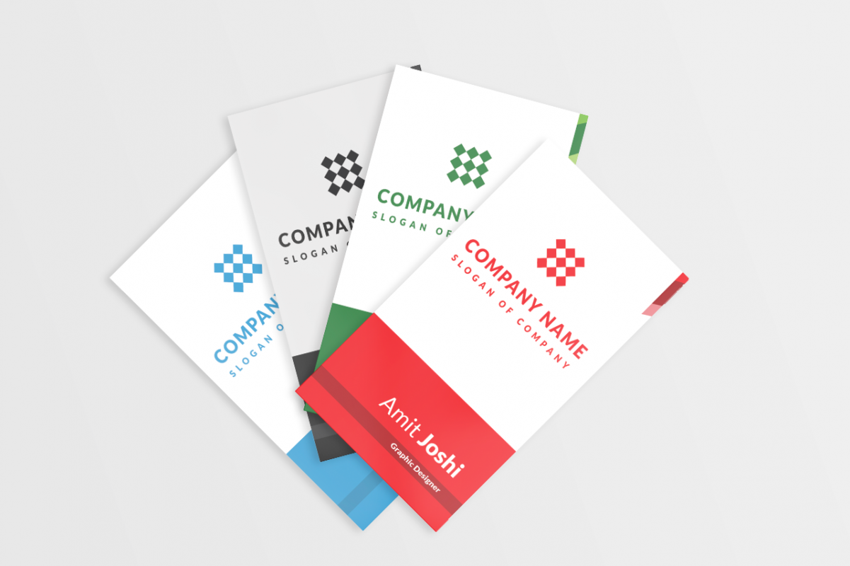 4 solid color vertical business card by design bundles 4 solid color vertical business card example image reheart Image collections