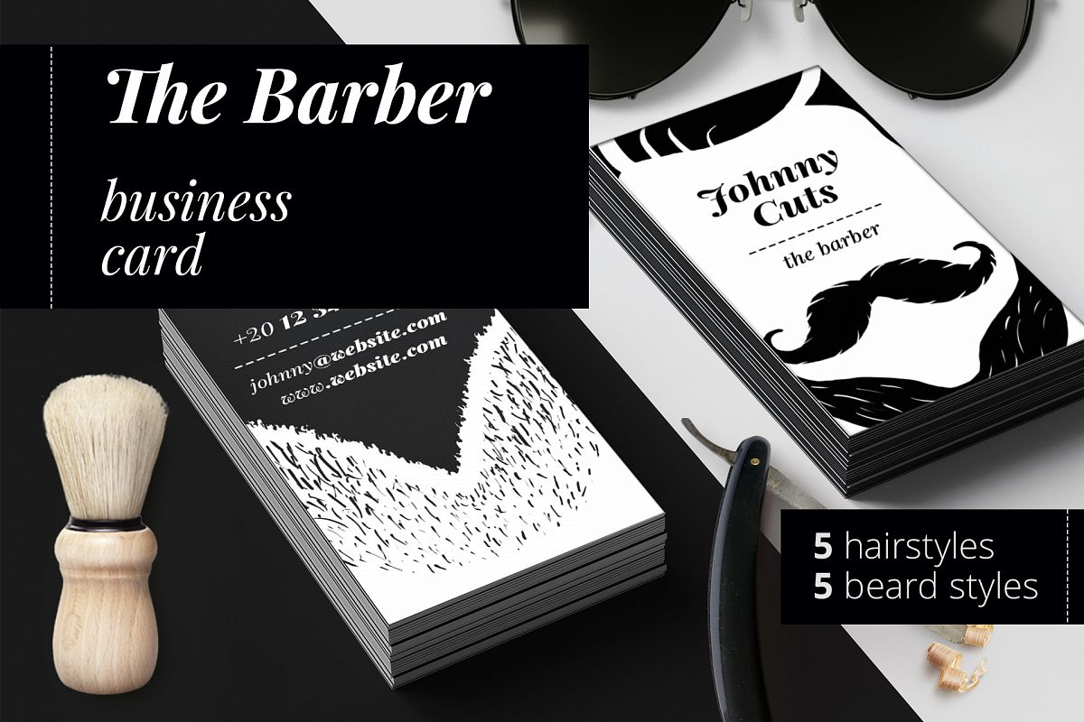 The barber business cards templates by design bundles the barber business cards templates example image flashek