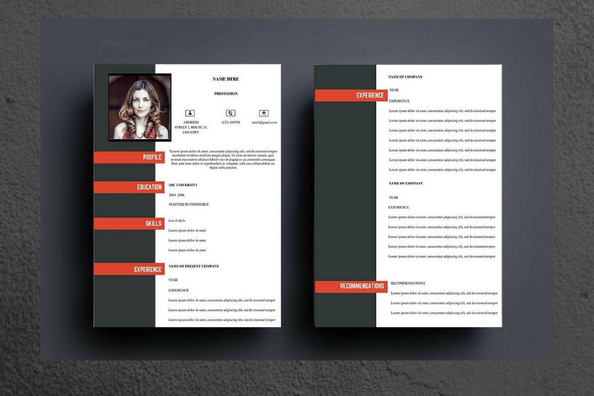 Black and Red Modern Resume by CanvaNix | Design Bundles