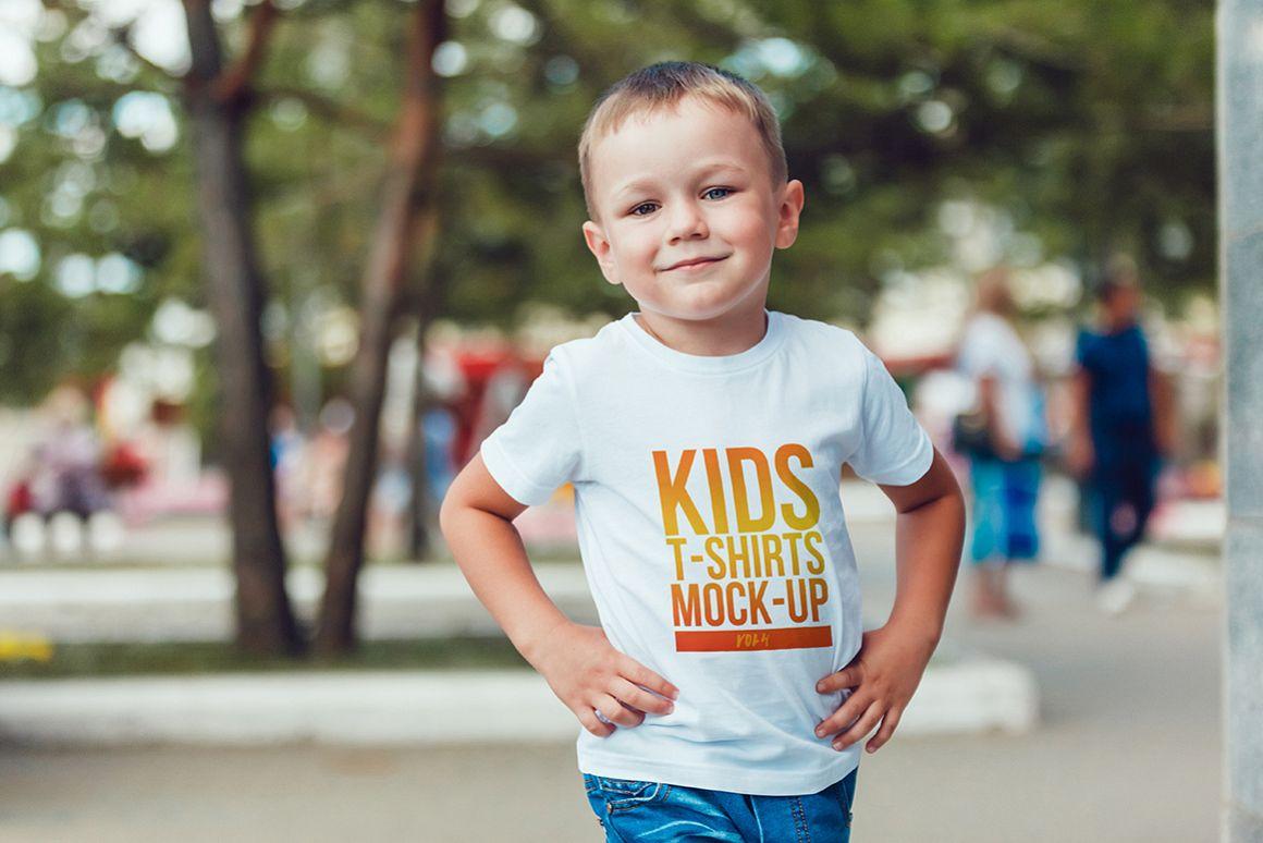 Kids T-Shirt Mock-Up Vol. 4 example image 9