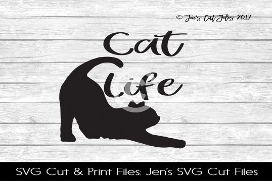 Cat Life SVG Cut File example image