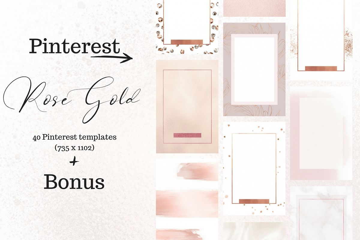 Pinterest rosé gold bundle example image