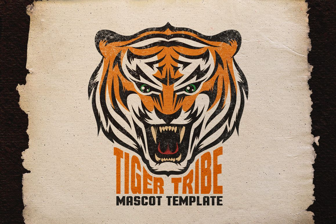 Tiger Mascot Template example image