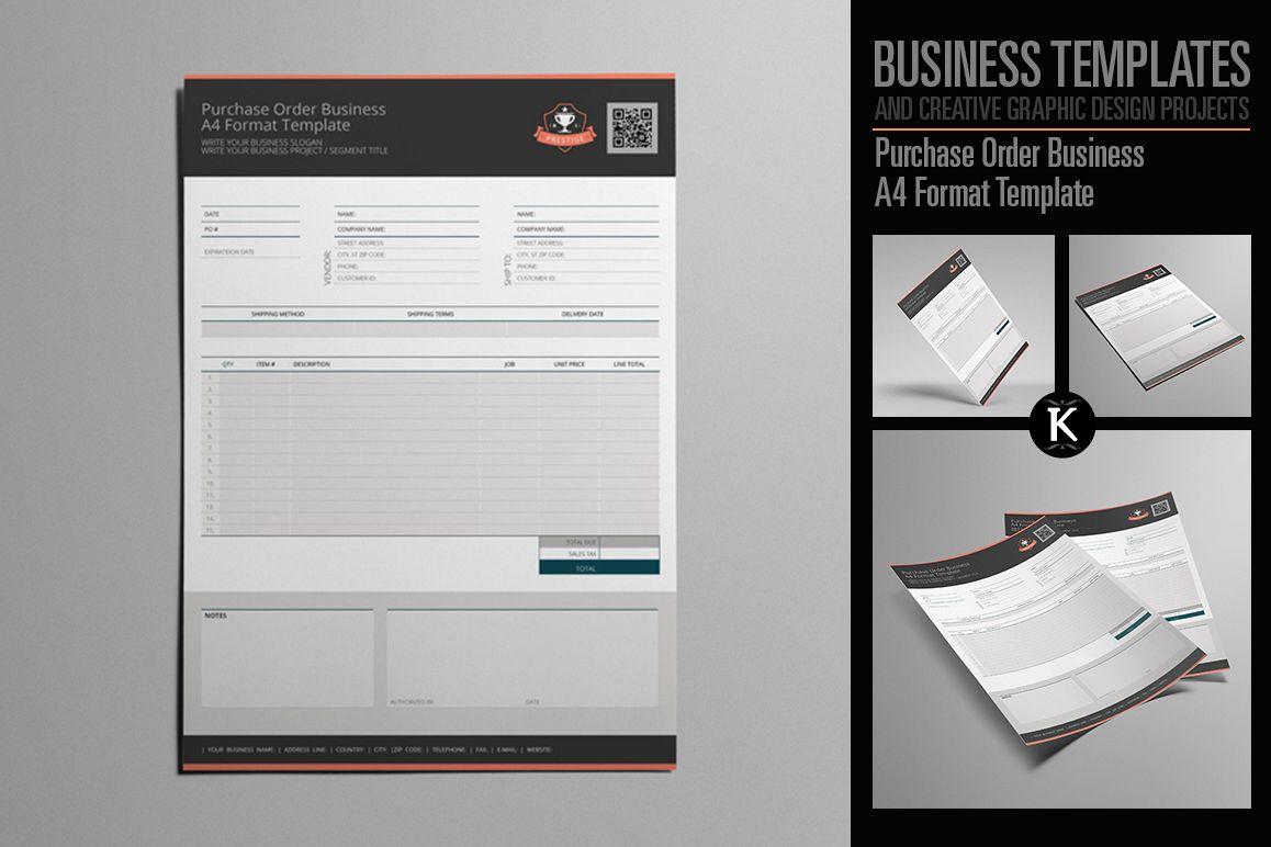Purchase Order Business A4 Format Templ | Design Bundles