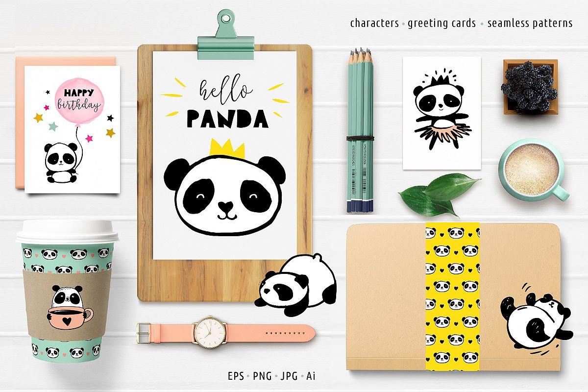 Panda Bear Design Collection By Marish Design Bundles