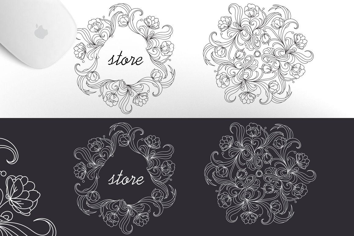 12 Floral design elements/ Pro example image 4