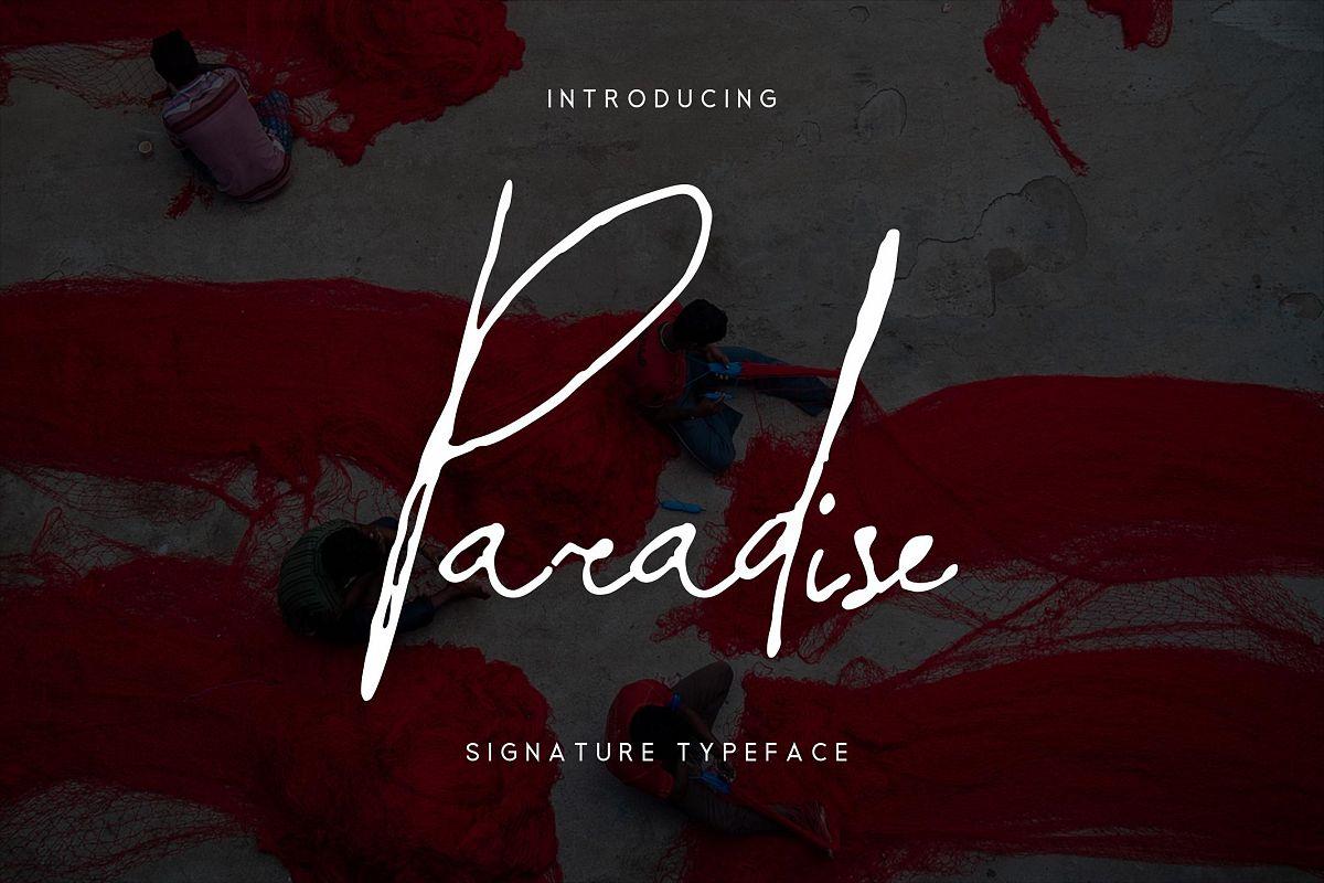 Paradise | Signature Typeface example image