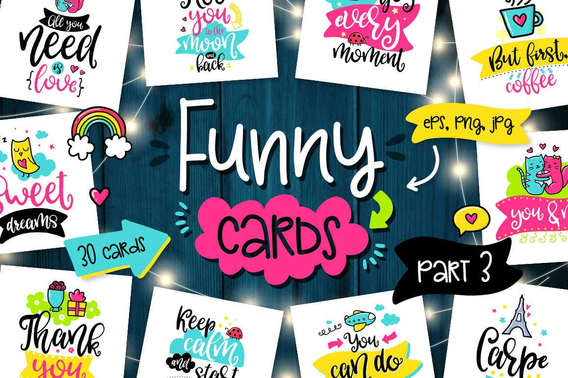 30 Funny Cards - Poster Collection! example image