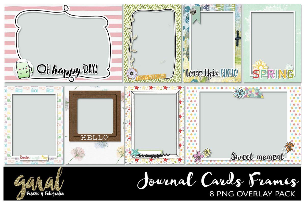Quick Pocket Frames 8pk, journal cards, | Design Bundles