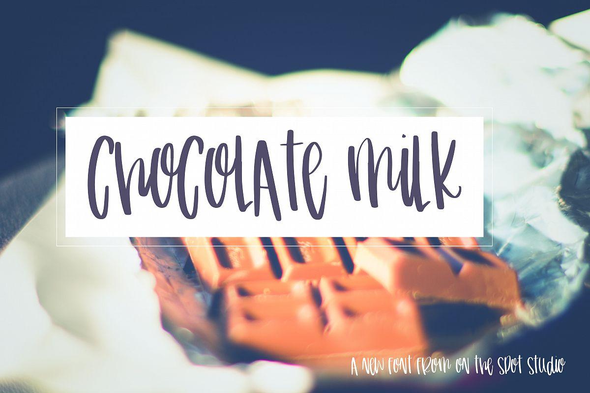 Chocolate Milk example image