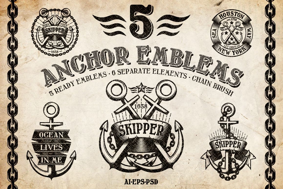 Marine Anchor Logos example image