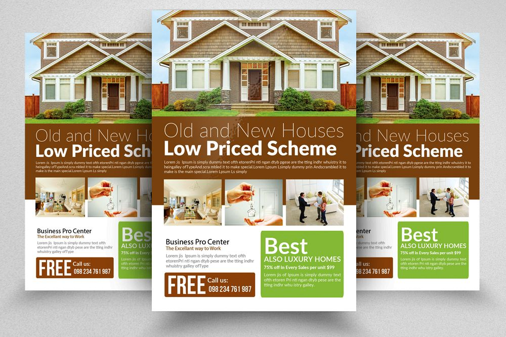 Real Estate Flyer Templates By Designhu Design Bundles - Real estate brochure templates