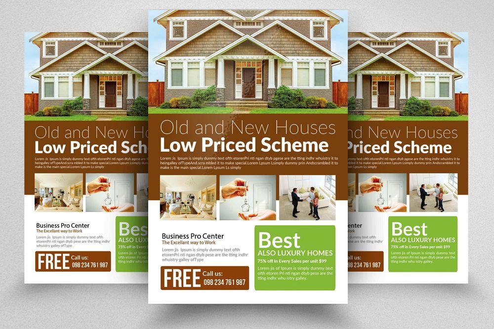 Real Estate Flyer Templates By Designhu Design Bundles - Real estate brochure templates