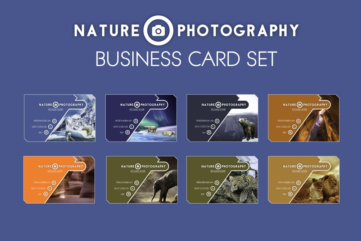 Nature Photography Business Card Set by | Design Bundles