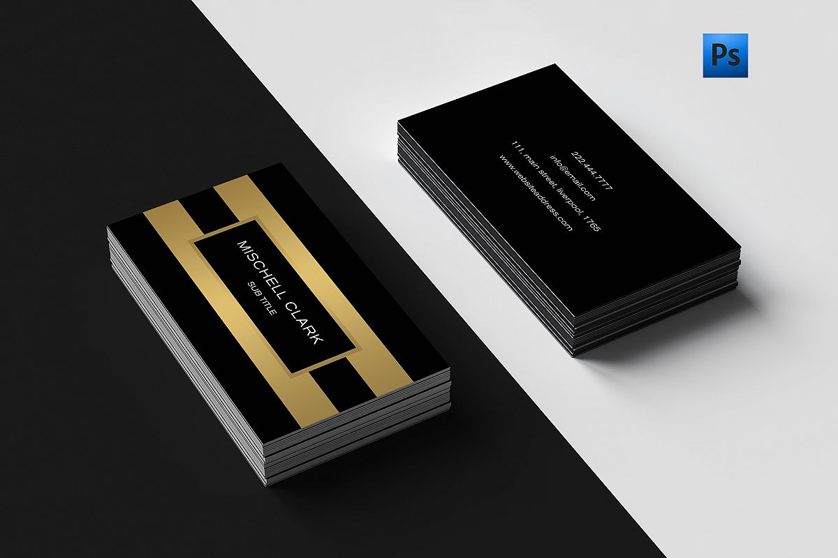 Golden metal finish business card by c design bundles golden metal finish business card example image reheart Gallery