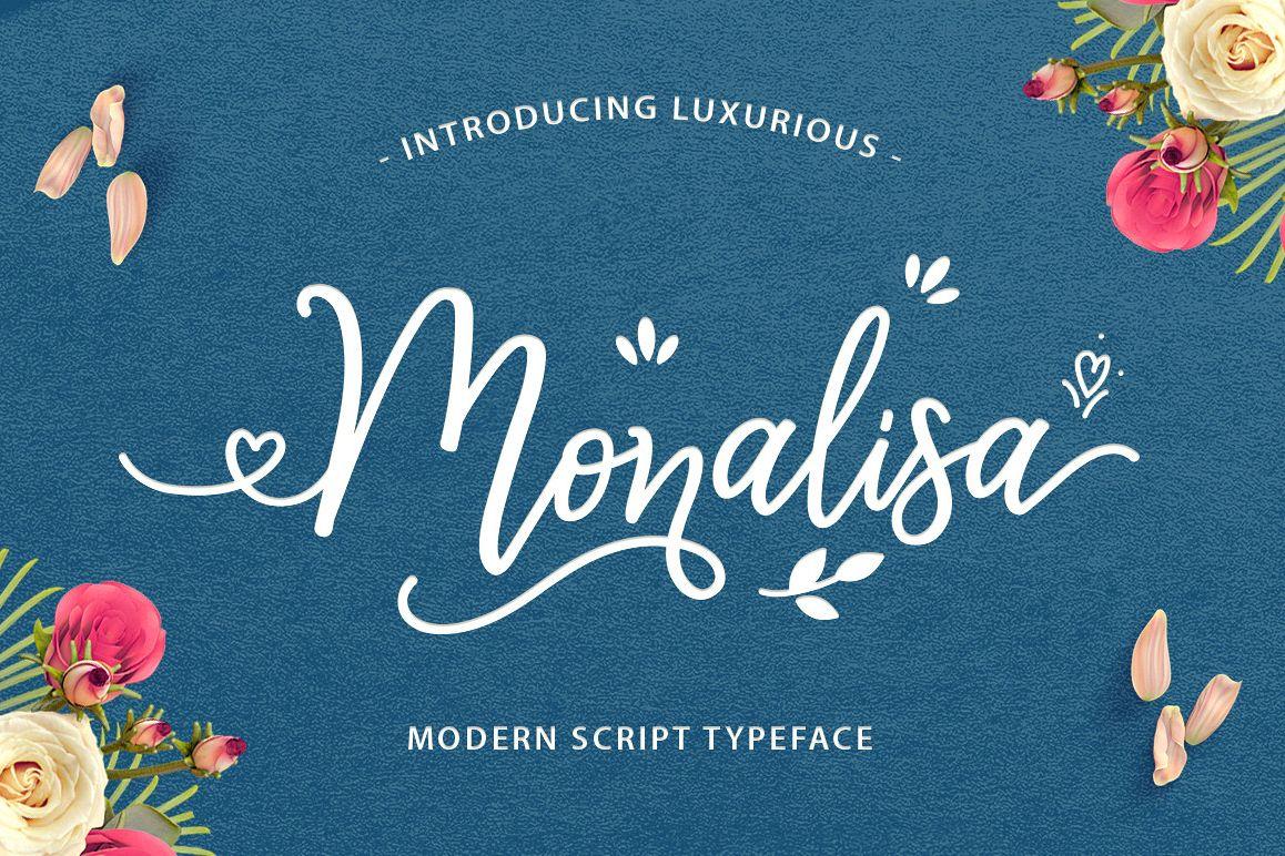 Monalisa Luxurious Font example image