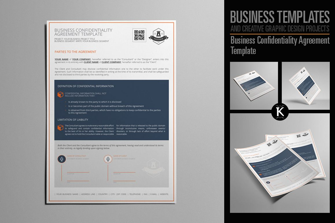 Business Confidentiality Agreement Template example image