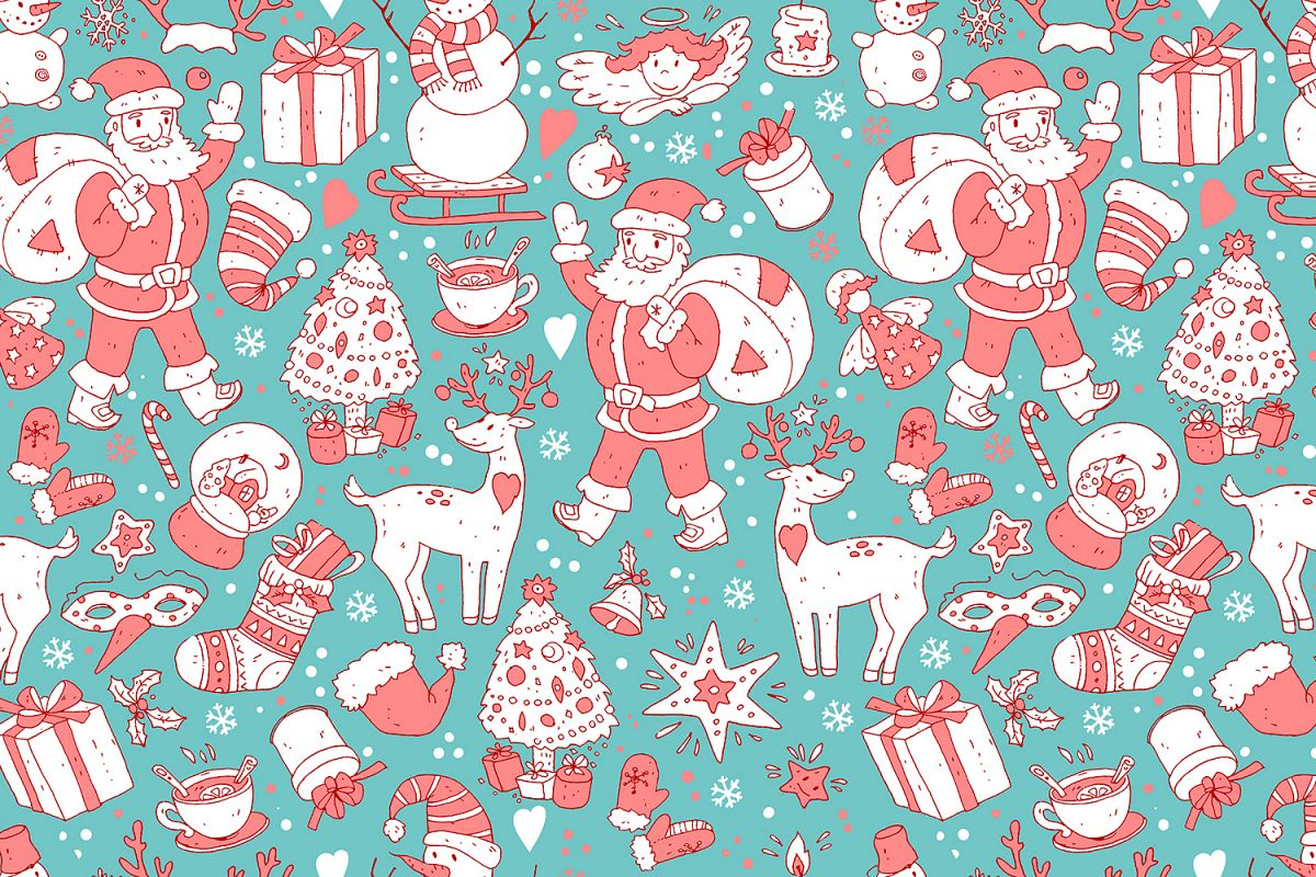 Cute doodle Xmas and New Year example image 6