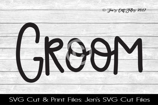 Groom SVG Cut File example image