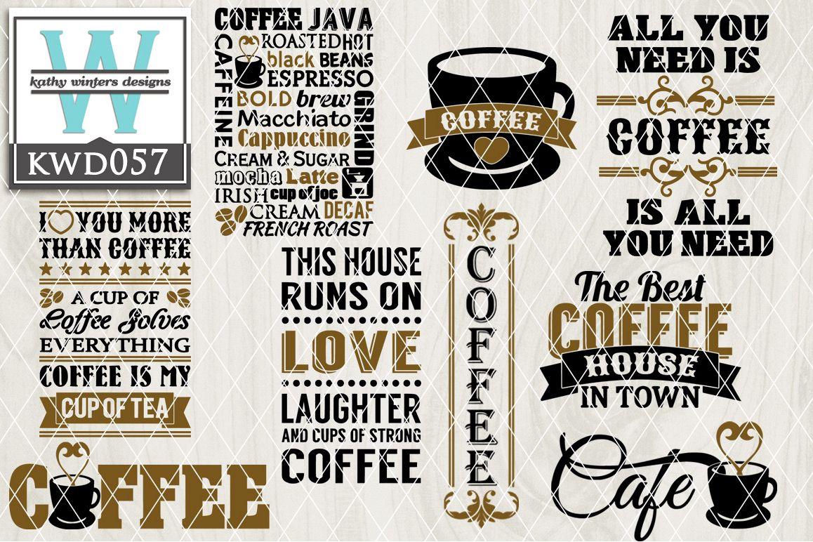 Coffee Cutting Files KWD057 example image