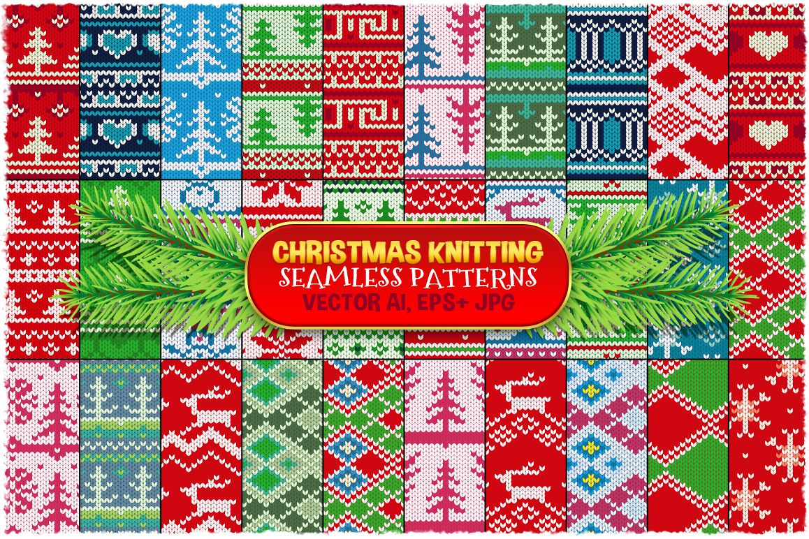 Christmas Seamless Knitting Pattern example image