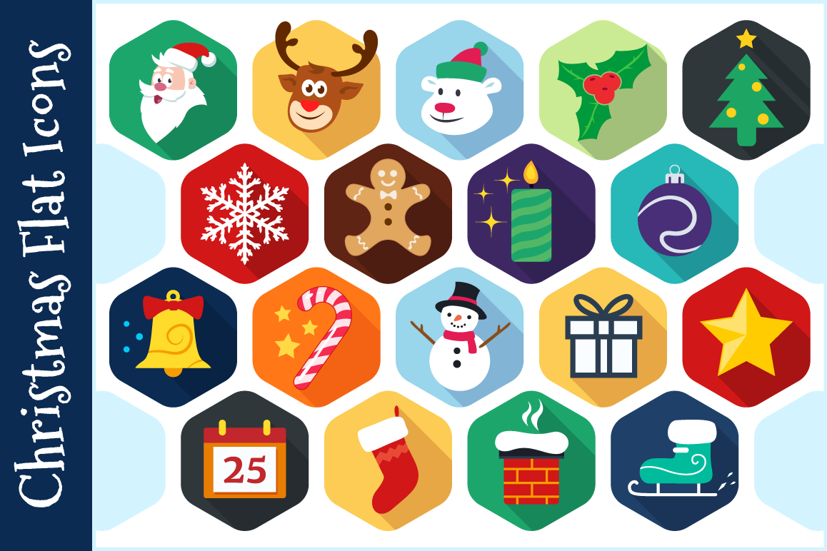 Christmas Flat Icons - Vector example image