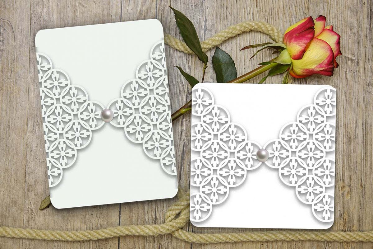 gate fold wedding invitation template, | Design Bundles