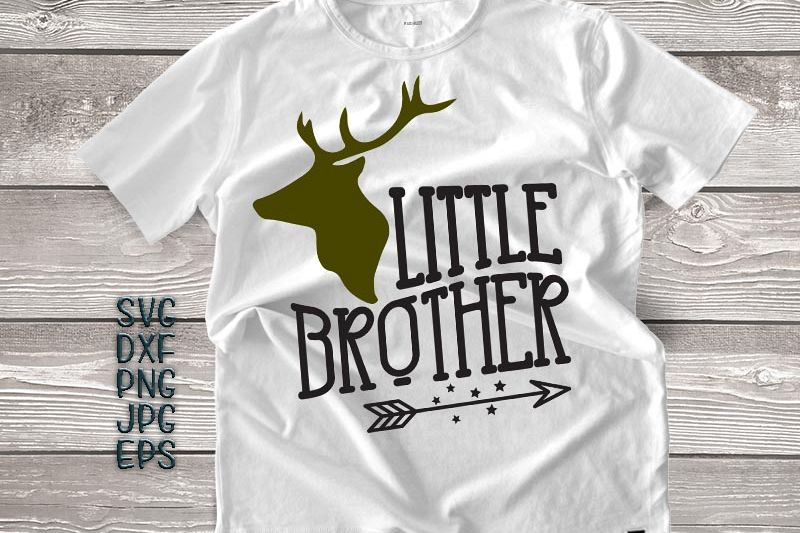 little brother svg, little brother antlers svg, arrow svg, big brother little brother svg, DXF PNG, jpeg, cricut little brother, printable example image