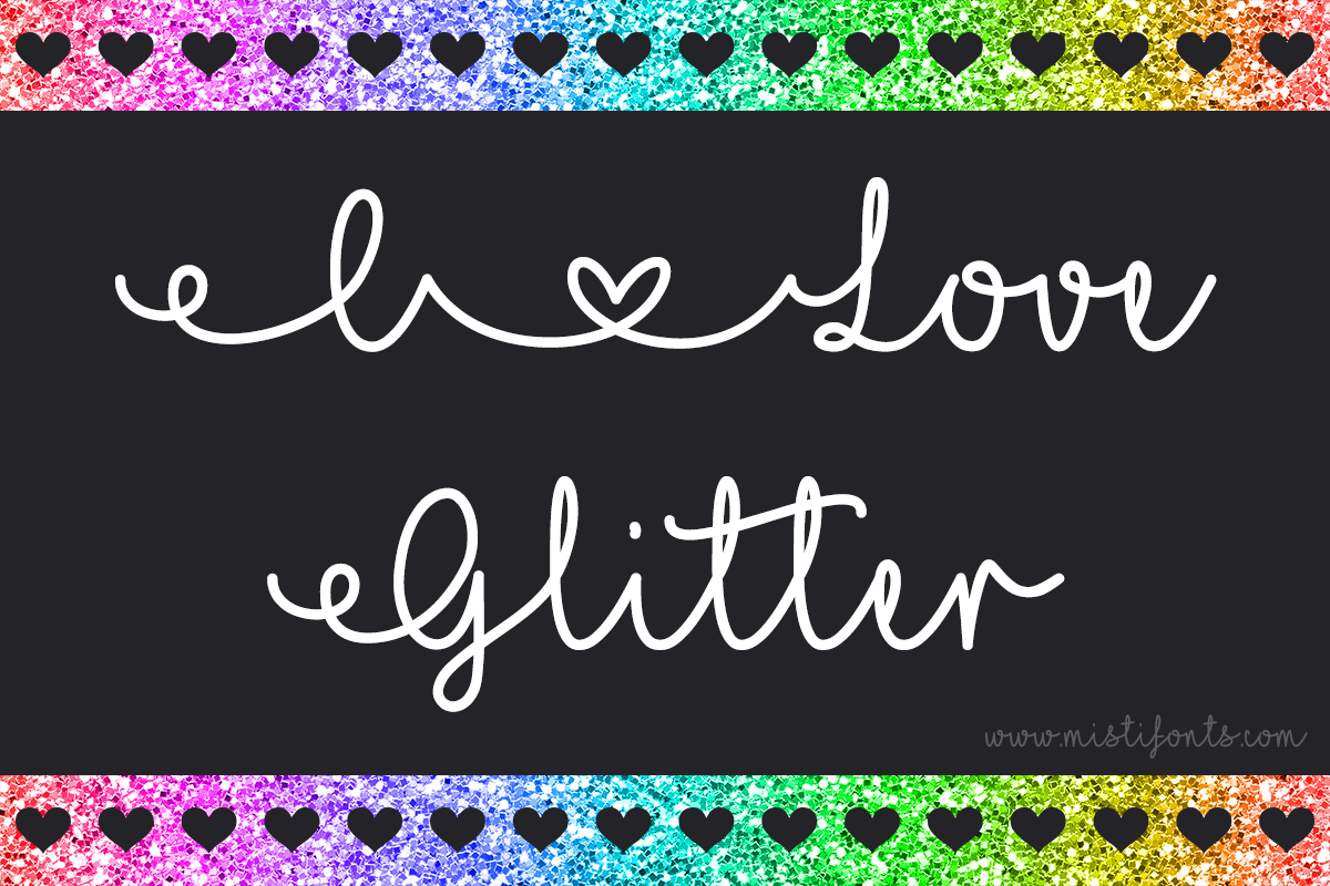 I Love Glitter example image